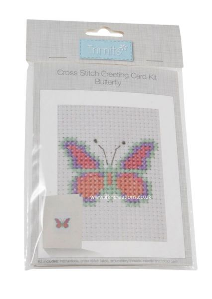 Butterfly Greetings Card Cross Stitch Kit